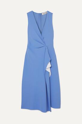Diane von Furstenberg Addison Ruffled Crepe Dress - Blue