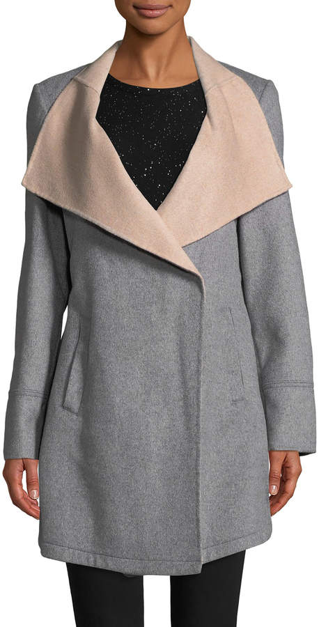Laundry by Shelli Segal Women's Double Face Wool Coat