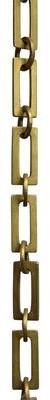RCH Supply Company Rectangular Unwelded Decorative Fixture Chain Finish: Antique Brass