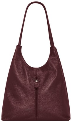 Sostter Maroon Soft Leather Slouch Bag