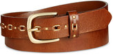 INC International Concepts Grommet Leather Belt, Only at Macy's