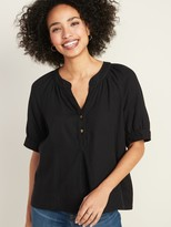 Old Navy Oversized Shirred Top for Women