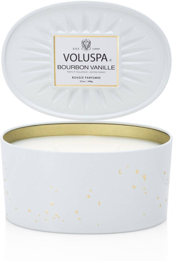 Voluspa Vermeil French Bourbon Vanille Oval Tin Two-Wick Candle