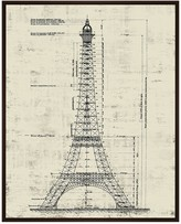 PTM Images Architectural La Tour Eiffel Framed Gallery Wrapped Canvas