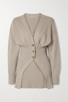 Alexander Wang Ribbed-knit Cardigan - Sand