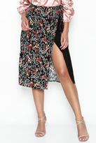 Hommage Floral Wrap Skirt