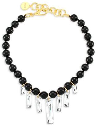 Nest 22K Goldplated Horn & Swarovski Crystal Necklace