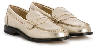 Gallucci Kids Flat Sole Penny Loafers