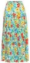 Thumbnail for your product : Rixo Tina floral cotton midi skirt
