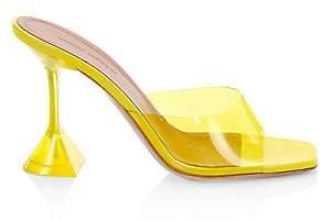 Amina Muaddi Women's Lupita PVC Metallic Mules