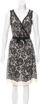 Moschino Cheap & Chic Moschino Cheap and Chic Lace Print Silk Dress