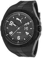 Puma PU103501009 Men's Iconic Black Rubber Black Dial Black Plastic White