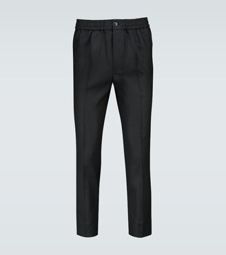 AMI Paris Elasticated wool pants