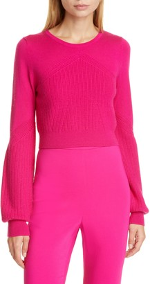 Cushnie Wool, Silk & Cashmere Crop Sweater