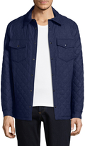 Isaia Men's Quilted Wool Jacket