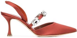 Manolo Blahnik Embellished Slingback Shoe