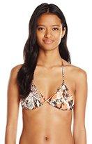 Volcom Women's Running Spirit Triangle Bikini Top