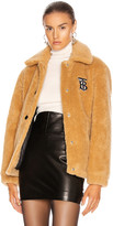 Burberry Fleece Jacket in Camel | FWRD