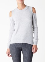 Veronica Beard Central Cold Shoulder Sweater Fog