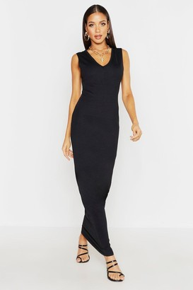 boohoo V Front Maxi Dress
