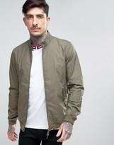 Pretty Green Dalton Harrington Jacket Slim Fit in Khaki Green