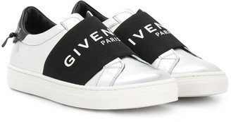 Givenchy Kids Logo-Strap Slip-On Sneakers
