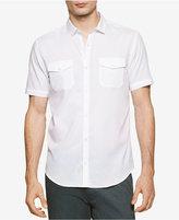 Calvin Klein Men's Slim-Fit Striped Dobby Short-Sleeve Shirt