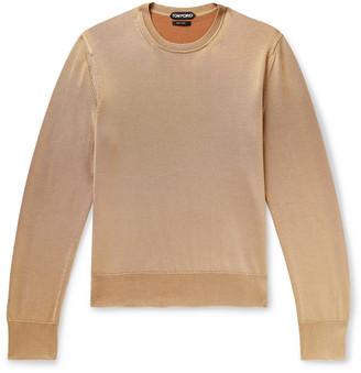 Tom Ford Slim-Fit Silk And Merino Wool-Blend Sweater