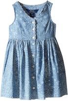 Polo Ralph Lauren Chambray Woven Dress (Toddler)