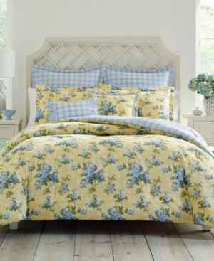 Laura Ashley Cassidy Pastel Yellow Comforter Set, Twin Bedding