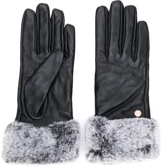 Barbour faux-fur trim gloves