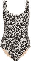 Marysia Swim Palm Springs scalloped-edge swimsuit
