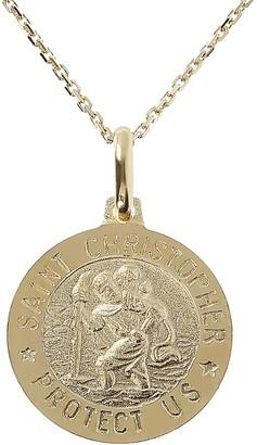 "Veronese 18K Clad Saint Christopher Pendant with 18"" Chain"