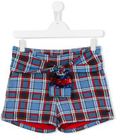 Little Marc Jacobs checked shorts - kids - Polyester - 14 yrs