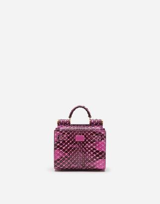 Dolce & Gabbana Elaphe Sicily 62 Micro Tote Bag