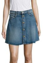 Mother Miranda Kerr x A-Line Denim Mini Skirt