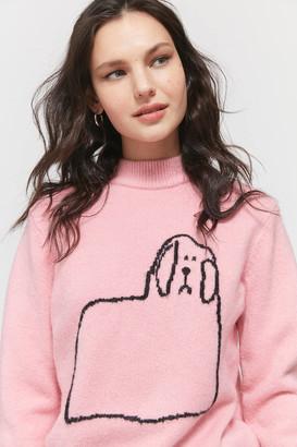 Lazy Oaf Doggy Mock Neck Sweater