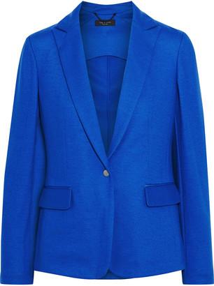 Rag & Bone Lexington Grosgrain-trimmed Wool-jersey Blazer