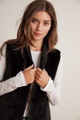 Velvet by Graham & Spencer Velvet By Graham Spencer Yvette Reversible Lux Faux Fur Open Vest