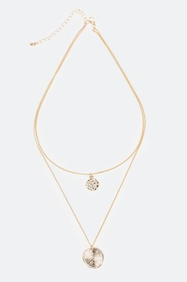 francesca's Kaya Hammered Coins Layer Necklace - Gold
