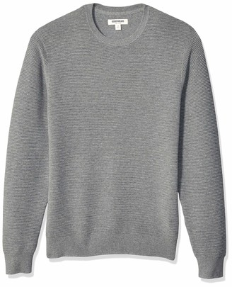 Goodthreads Amazon Brand Men's Soft Cotton Ottoman Stitch Crewneck Sweater