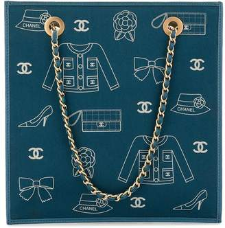 Chanel Pre-Owned Icon print chain tote
