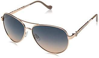 Jessica Simpson Women's J5702 Metal Aviator Sunglasses with Metal Leaf Patterned Temple and 100% UV Protection