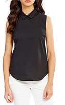 Armani Exchange Sleeveless Collared Slim Fit Shirt