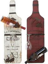 UMA Enterprises Set Of Two Wood & Metal Wine Racks