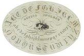 John Derian Alphabet Decoupage Plate