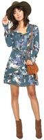 BB Dakota Ashlene Printed Crinkle Rayon Dress