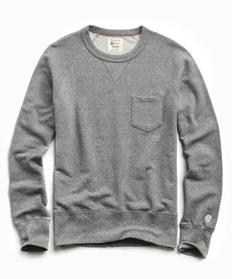 Todd Snyder + Champion Lightweight Pocket Sweatshirt in Salt and Pepper