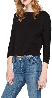 Three Dots Women's Ponte Loose Short Top