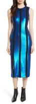 Diane von Furstenberg Women's Sequin Panel Midi Dress